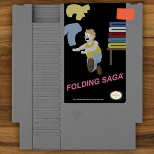 Folding Saga NES Cartridge